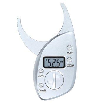 Testowanie pomiaru tłuszczu suwmiarka cyfrowy tester tkanki tłuszczowej zacisk Test utraty wagi pomiar grubości tłuszczu tanie i dobre opinie 114*67*15mm digital body fat measurement clip ngineering plastic Tkanki tłuszczowej monitory