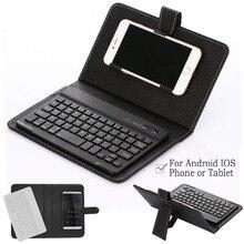 Vococal из искусственной кожи Bluetooth беспроводная клавиатура чехол Защитный чехол для iPhone iPad huawei Xiaomi samsung мобильный телефон планшет