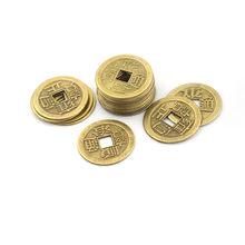 20 pçs imperador qing chinês feng shui fortuna liga moeda para riqueza sucesso sorte decoração casa aleatória enviar