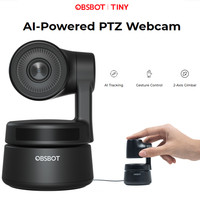 Webcam PTZ con Zoom AI Tracking alimentato AI, OBSBOT Tiny Gimbal a 2 assi Full HD 1080p Video Chat riunione Online Streaming Live Online