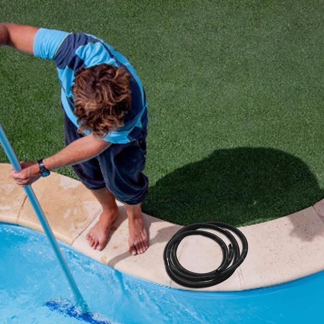 Tuyau de piscine tuyau deau avec 32 mm de diamètre et longueur totale 6.3m résistant aux UV et au chlore # CW