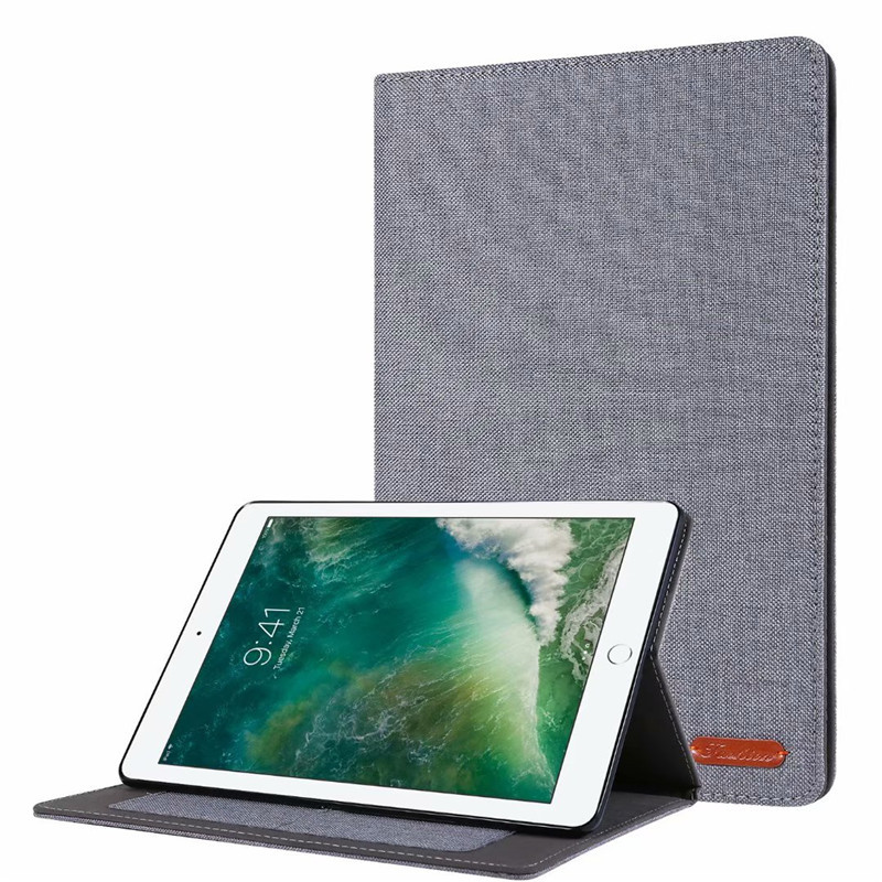 01 Gray Silver Cover For iPad 10 2 2019 Luxury Leather Case For iPad 10 2 7 7th Generation