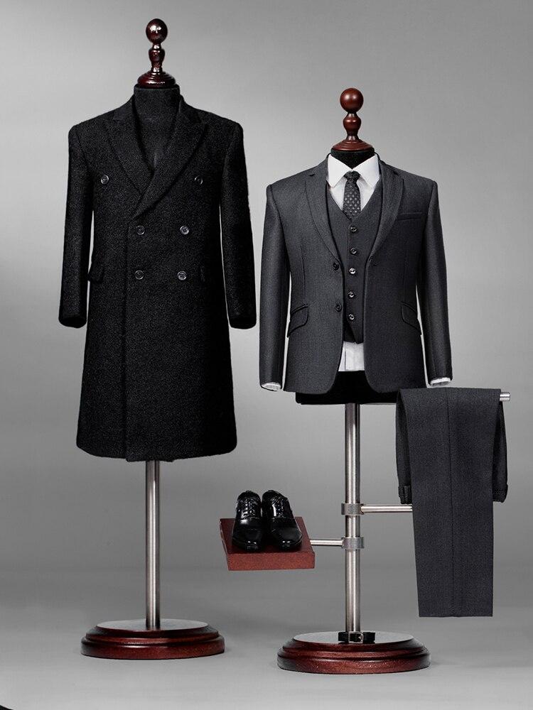 Per-sale 1/6 escala roupas masculinas Pop-x34 couture versão rico cavalheiro ben casaco terno para 12 action action figura de ação roupas do corpo