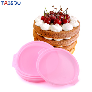 4/6/8 inch Round Silicone Pastel Layer Cake Mould Silicone Mousse Mold Round Baking Tools For Cakes Cooking Forms