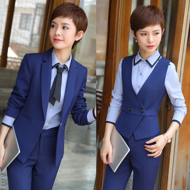 2019 Autumn New Style Long Sleeve Business WOMEN'S Suit Sale Interview Work Clothes Suit Business Formal Wear Hotel Workwear