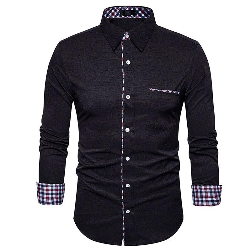Plaid Shirt Men 2017 Luxury Brand New Men Shirt Casual Button Down Mens Dress Shirts Chemise Homme Long Sleeve Male Shirts 2XL