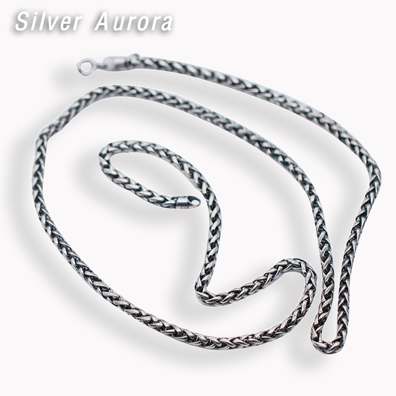 Véritable 925 Sterling Zilver Eenvoudige Kettingen Chokers Kettingen voor Vrouwen Mannen pour cintre Accessoires Mode Vintage-sierade