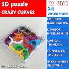 3d сумасшедшие кривые Пазлы для детей и взрослых, Обучающие головоломки Монтессори, кубическая коробка, интеллектуальные игрушки IQ