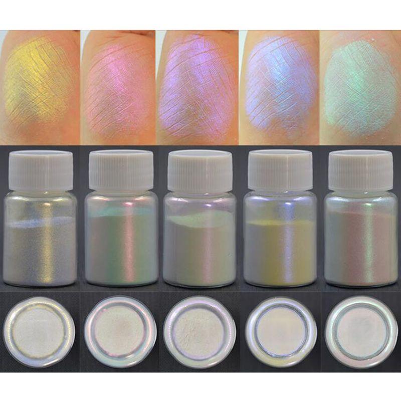 5 Pcs Magic Aurora Resin Mica Pearlescent Pigments Colorants Resin Jewelry Making
