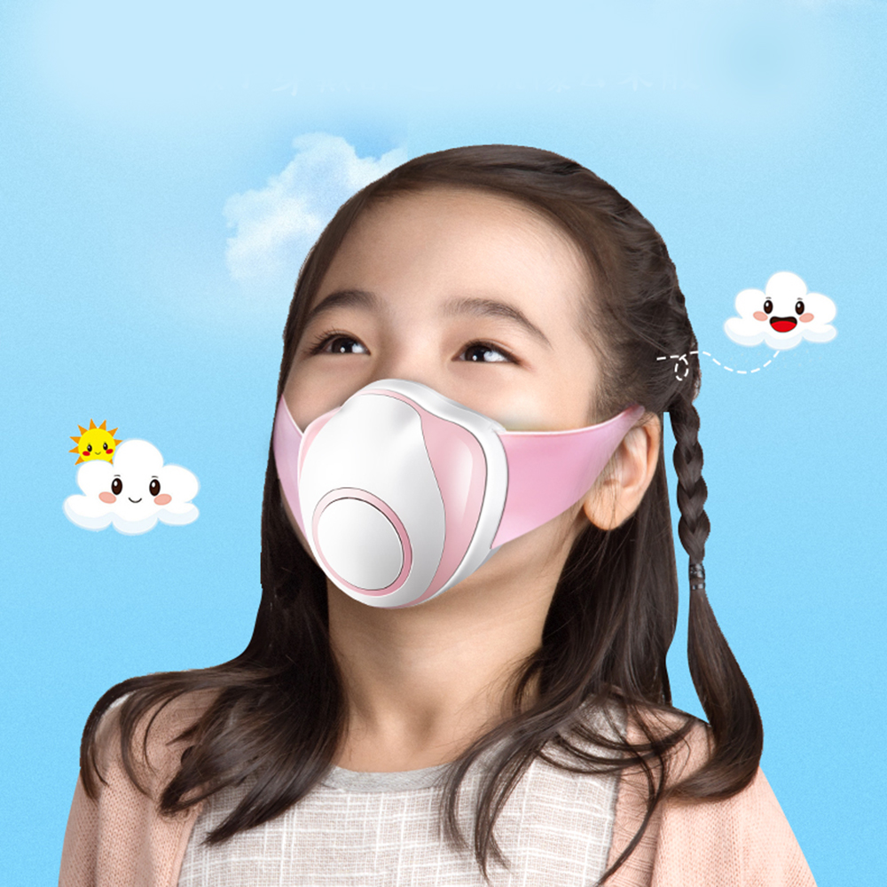 Kids Anti PM2.5 Electric Smart Mask Smart Electric Face Dust Mask Air Purifying Respirator Reusable Mask Eco Friendly New M19|Cycling Face Mask| |  - title=
