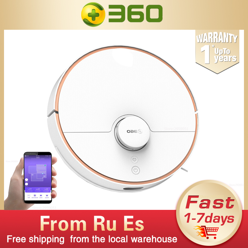 New 360 S7 Robot Vacuum Cleaner For Home Laser Navigation with SLAM Route Planning App Remote Control Suction Mopping robot image