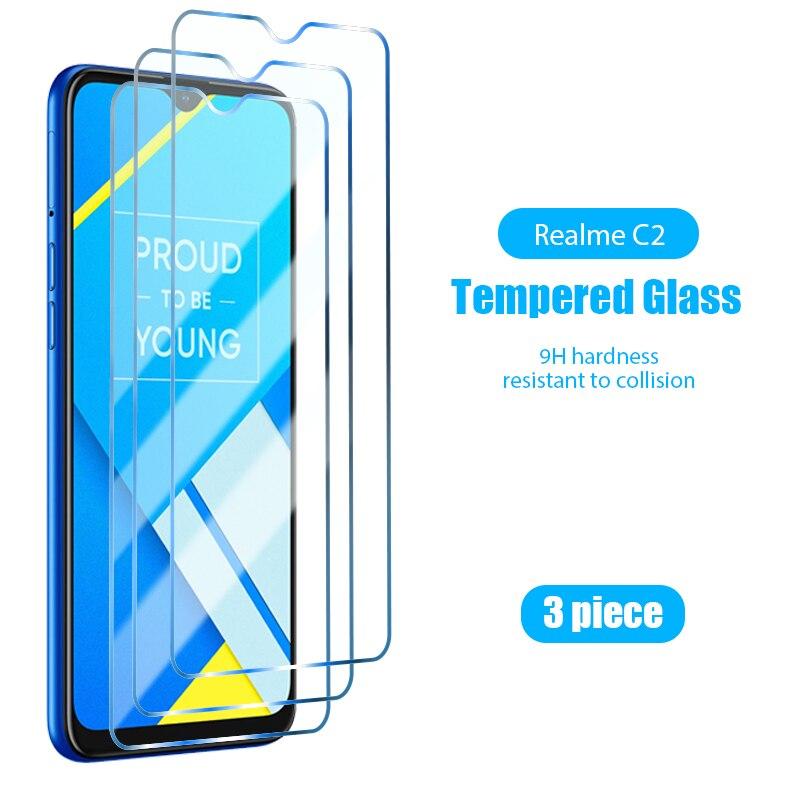 Защитная пленка из стекла для сотового телефона 1 шт./3 шт., Защита экрана для Realme 5S 5i 5 Pro HD, закаленное стекло для Realme 3 Pro 3i 2 1 Q U1 9H