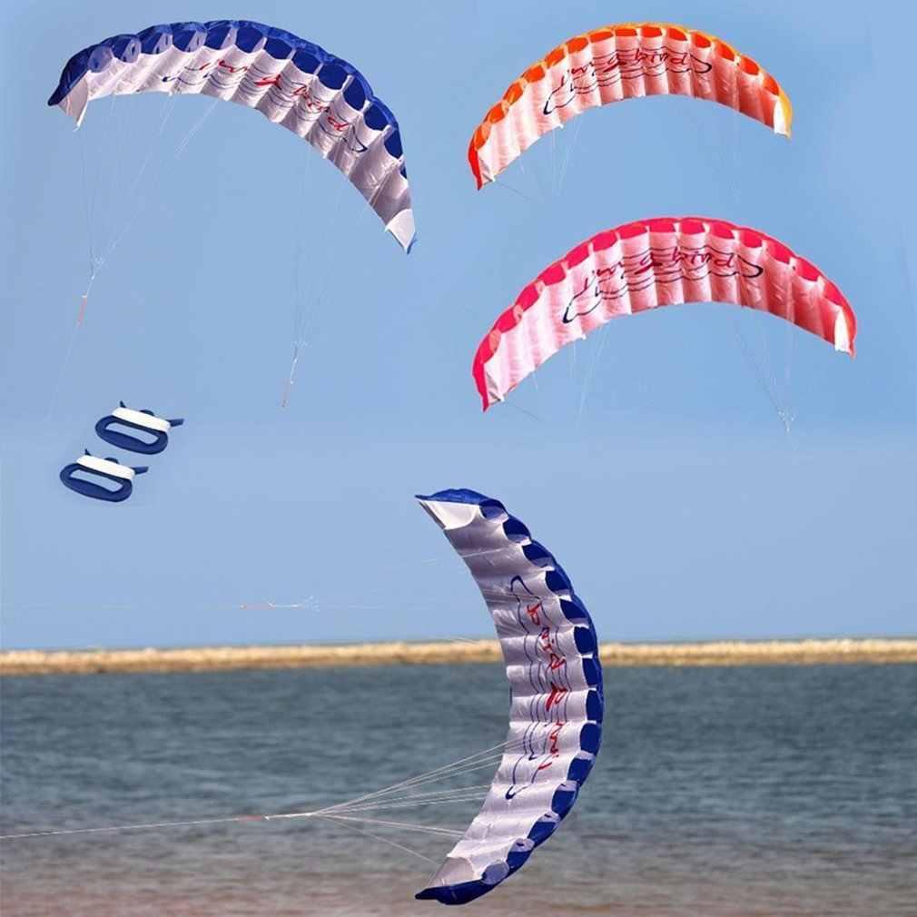 1.4 M Jalur Ganda Kitesurfing Aksi Parasut Lembut Parafoil Layang-layang Surfing Olahraga Layang-layang Besar Besar Aktivitas Luar Ruangan Pantai Layang-layang Terbang