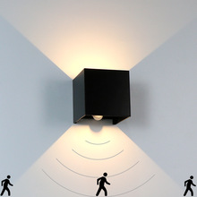 Wall-Light Light-Fixture Indoor-Wall-Lamp LED IP65 Human-Body-Motion-Sensing Garden Outdoor