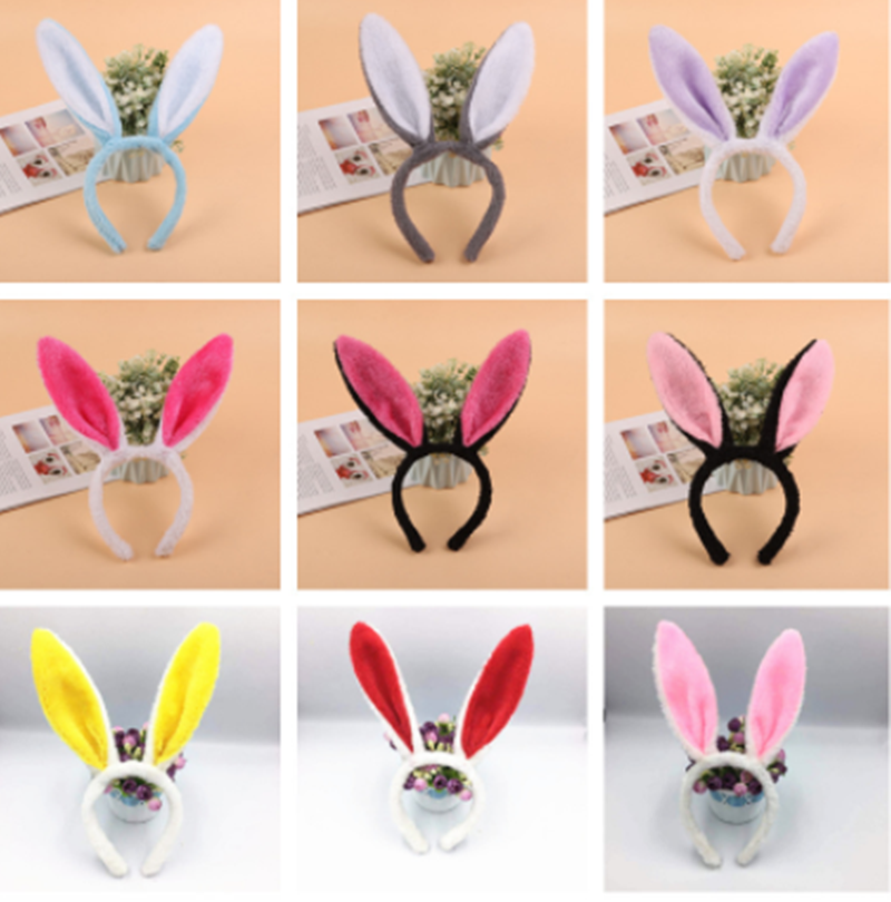 Clothes Accessories Cotton Women Lovely Headband 1PC Girls Pink Rabbit Ear Head Holiday Adult Kids Hairband Hair Accessories