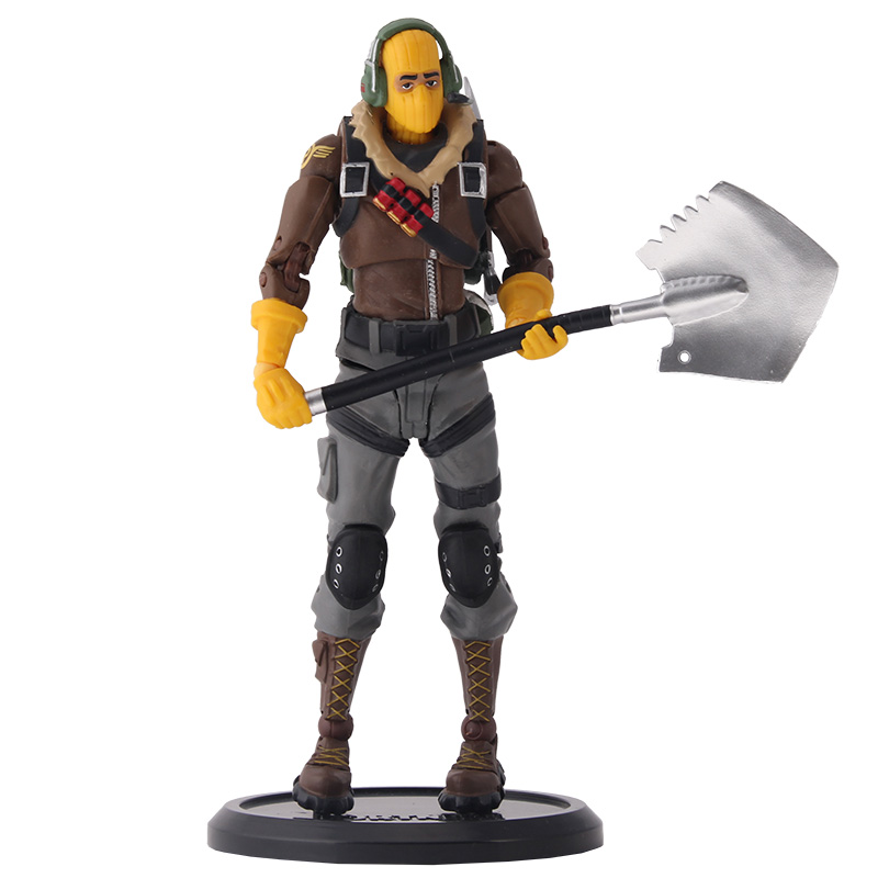 18cm New Hot Game Fortress Night Battle Royale RAPTOR Action Figure Toys Battle Royale Game Character PVC Figure Model Toy