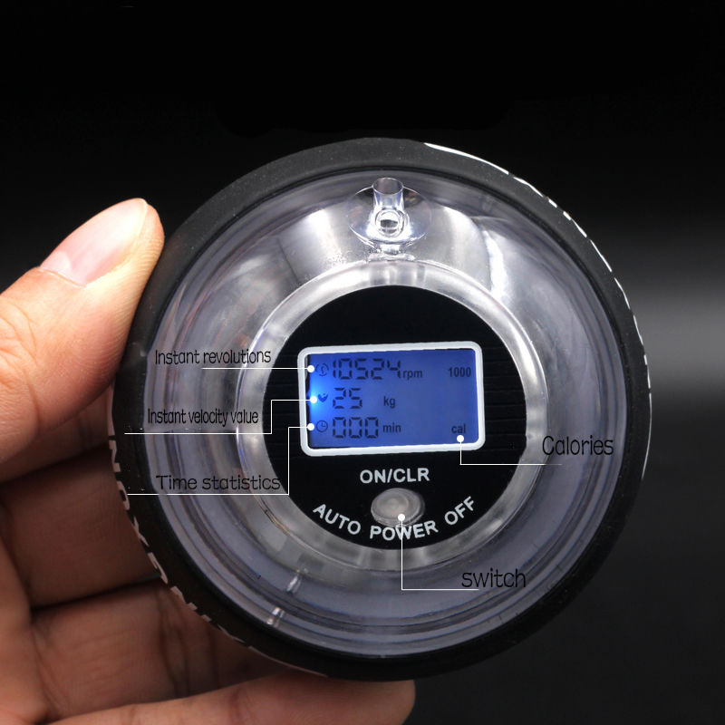 Самозапуск беспроводной светодиодный наручный мяч на запястье тренажер для мышц расслабляющий гироскоп мощный Мяч Тренажер для тренировк...