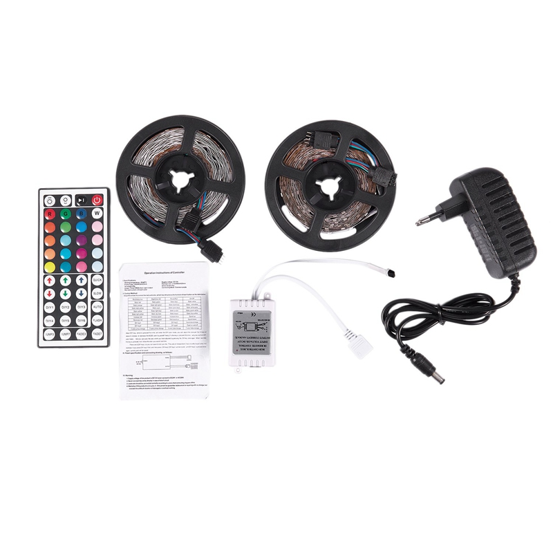 AAAE Top-10M 300Leds 3528 Smd Rgb Led Light Strip + 44 Key Ir Remote Controller Non-Waterproof Dc12V 60Leds Flexible Lighting Ri