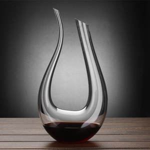 Crystal U-shaped wine decanter gift box harp swan decanter creative wine separator