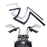 Guidão universal de motocicleta  barras de z para moto de 7/8
