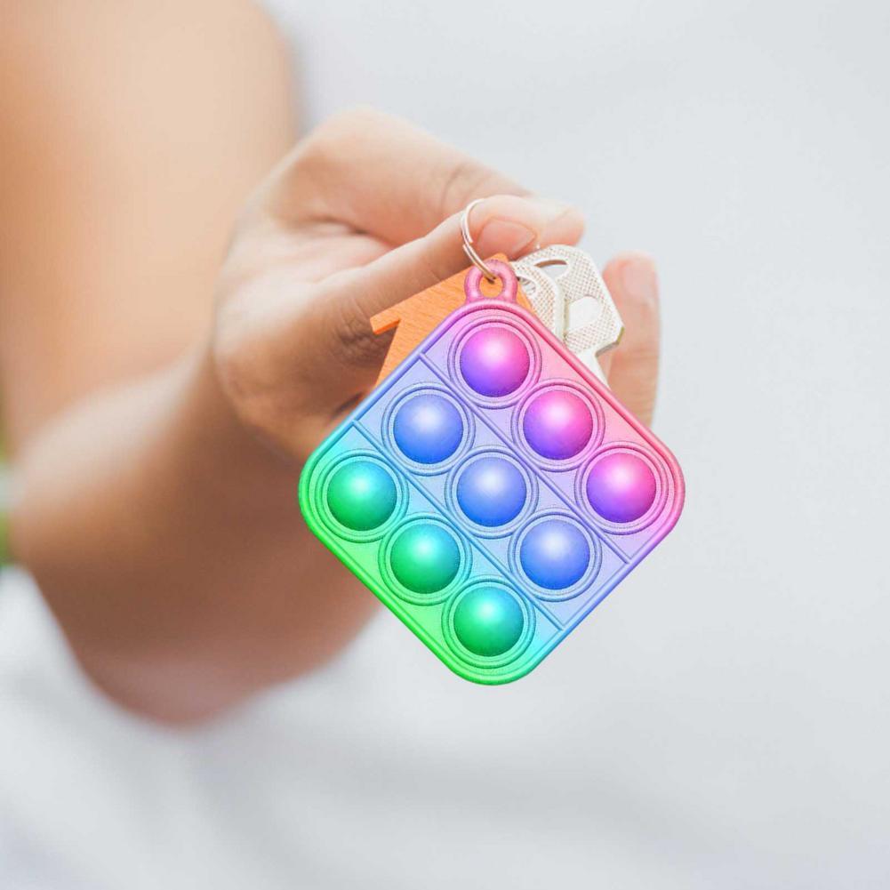 Toys Adult Autism Pop Fidget Keychain Needs Bubble-Sensory-Toy Anti-Stress Funny Push-Pop img4