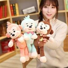 Chegam novas 32cm bonito kawaii macaco boneca brinquedo de pelúcia macio travesseiro macaco engraçado animal de pelúcia melhor presente para a criança menino namorada