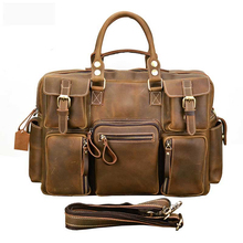 YICIYA Man Briefcase Genuine Vintage Crazy Horse Leather Laptop Briefcase Bag Hand bags High Quality 7106 2017 popular hand carve china vintage genuine leather womens bags