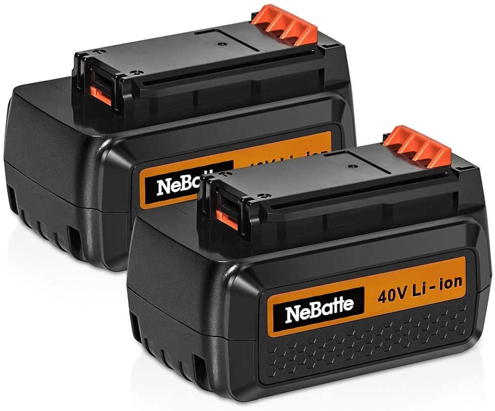 2pcs 40V Max 2500mAh Lithium Battery Replacement Compatible with Black and Decker LBX2540 LBX2040 LBX1540 LBXR36 LBX36 LBXR2036