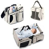 Mütter Tote Tasche Baby Windel Tasche Reise Rucksack Große Kapazität Falten Bett Tasche Für Baby Pflege Handtasche Mummy Taschen Totebag frauen
