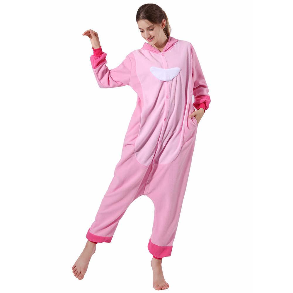 Nouveau hiver adulte Onesies pour femmes hommes unisexe famille fête Animal point Kigurumi pyjamas chaud doux global une pièce nuit maison