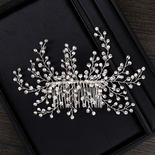 AiliBride Handmade Rhinestone Wedding Hair Combs Hair Accessories for Bridal Headpiece Crystal Women Hair ornaments Jewelry slbridal handmade crystal rhinestone pearls flower wedding hair clip barrettes bridal headpiece hair accessories women jewelry