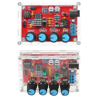 Generador de señal DIY Kit generador de funciones sintetizador 5Hz ~ 400kHz amplitud de frecuencia ajustable
