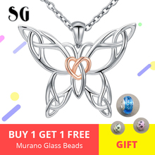 New 100% 925 Sterling silver hollow butterfly pendant chain necklace for women making Valentine gift