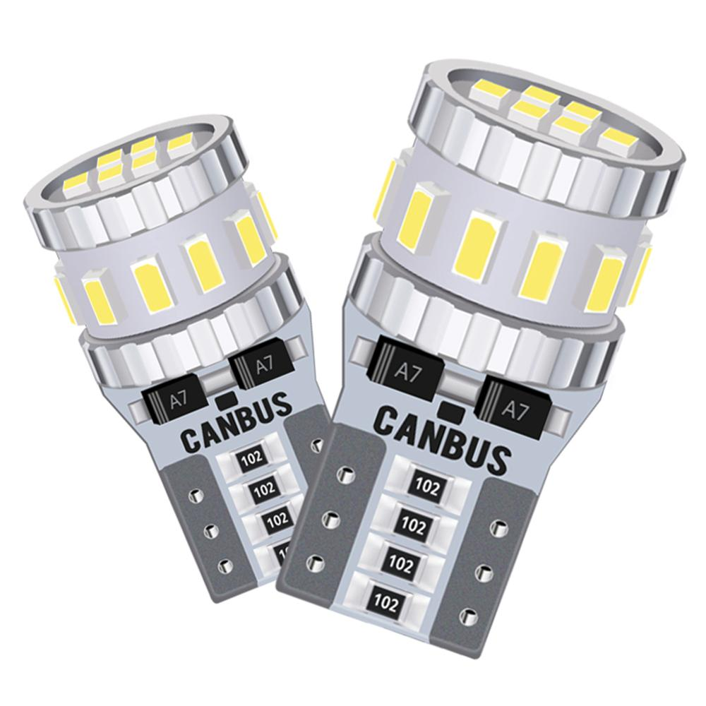 2x T10 Canbus <font><b>LED</b></font> W5W 168 Clearance Parking <font><b>Light</b></font> 6000k White <font><b>Led</b></font> Car Lamp for <font><b>Peugeot</b></font> 307 407 406 206 508 <font><b>308</b></font> Partner 301 2008 image