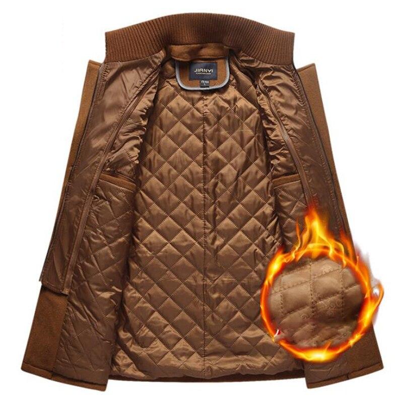 Winter Wool Thick Warm Coat Men Fashion Double Collar Windproof Smart Casual Mens Jackets Outwear Long Winter Wool Thick Warm Coat Men Fashion Double Collar Windproof Smart Casual Mens Jackets Outwear Long Woolen Coats DropShipping