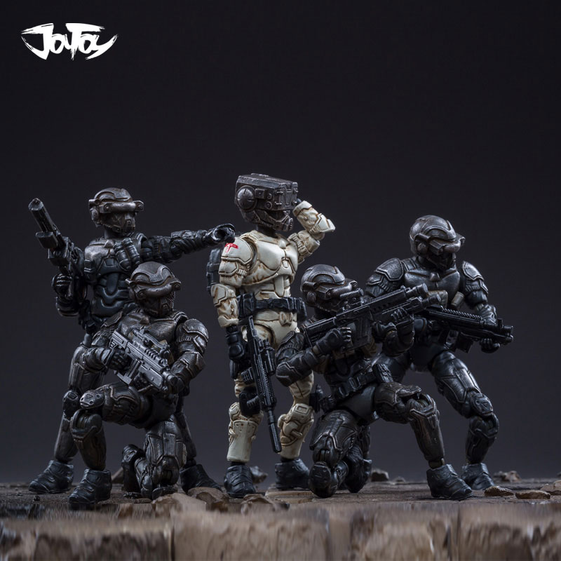 JOYTOY 7.6 1/25 Removable Storm Crew Obsidian Team(5Pcs)Action Figure Soldier Model Collection Free Shipping
