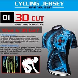 Image 3 - ฤดูร้อนใหม่Teleyiเกียร์ขี่จักรยานJerseyแขนสั้นชุดMaillot Ropa Ciclismo Uniformes Quick แห้งเสื้อผ้าMTB Cycleเสื้อผ้า