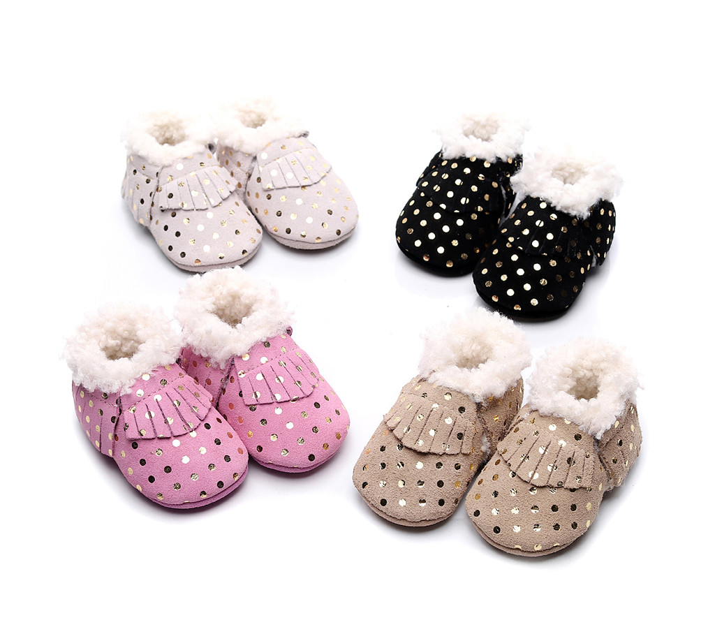 Baby Boots Infant Newborn Girls Boys Cartoon Shoes First Walkers Shoes First Walkers Four Seasons Children's Shoes