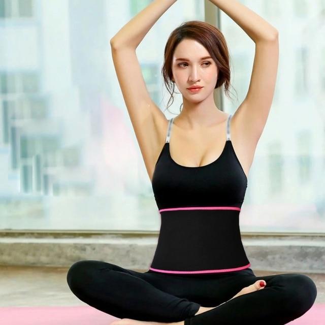 New Waist Trimmer Yoga Fitness Belt Weight Loss Sweat Band Wrap Fat Tummy Stomach Sauna Sweat Sports Belt 2020 4