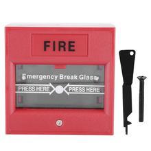 Аварийный выход Кнопка пожарной тревоги релиз защитное стекло сигнализация обрыва провода переключатель кнопка sos