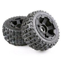 Tyres and Wheel Hub Set for 1/5 Hpi Km Baja 5B Rc Car