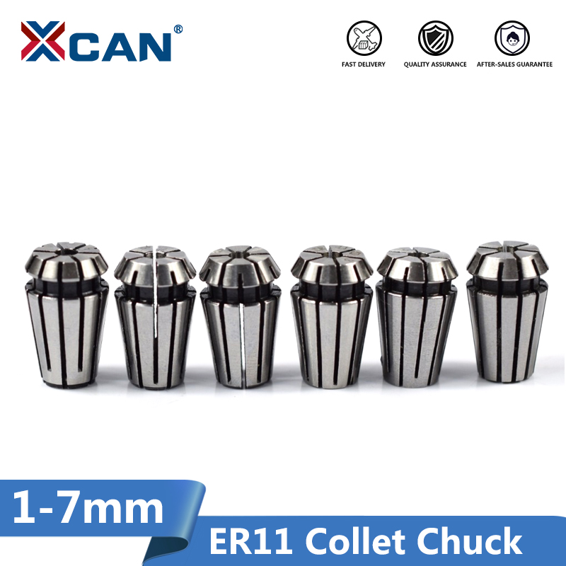 XCAN 1pc ER11 Collet Chuck 1/2/2.5/3/3.5/4/4.5/5/6/7mm CNC Router Spring Chuck For CNC Engraving Machine & Milling Lathe