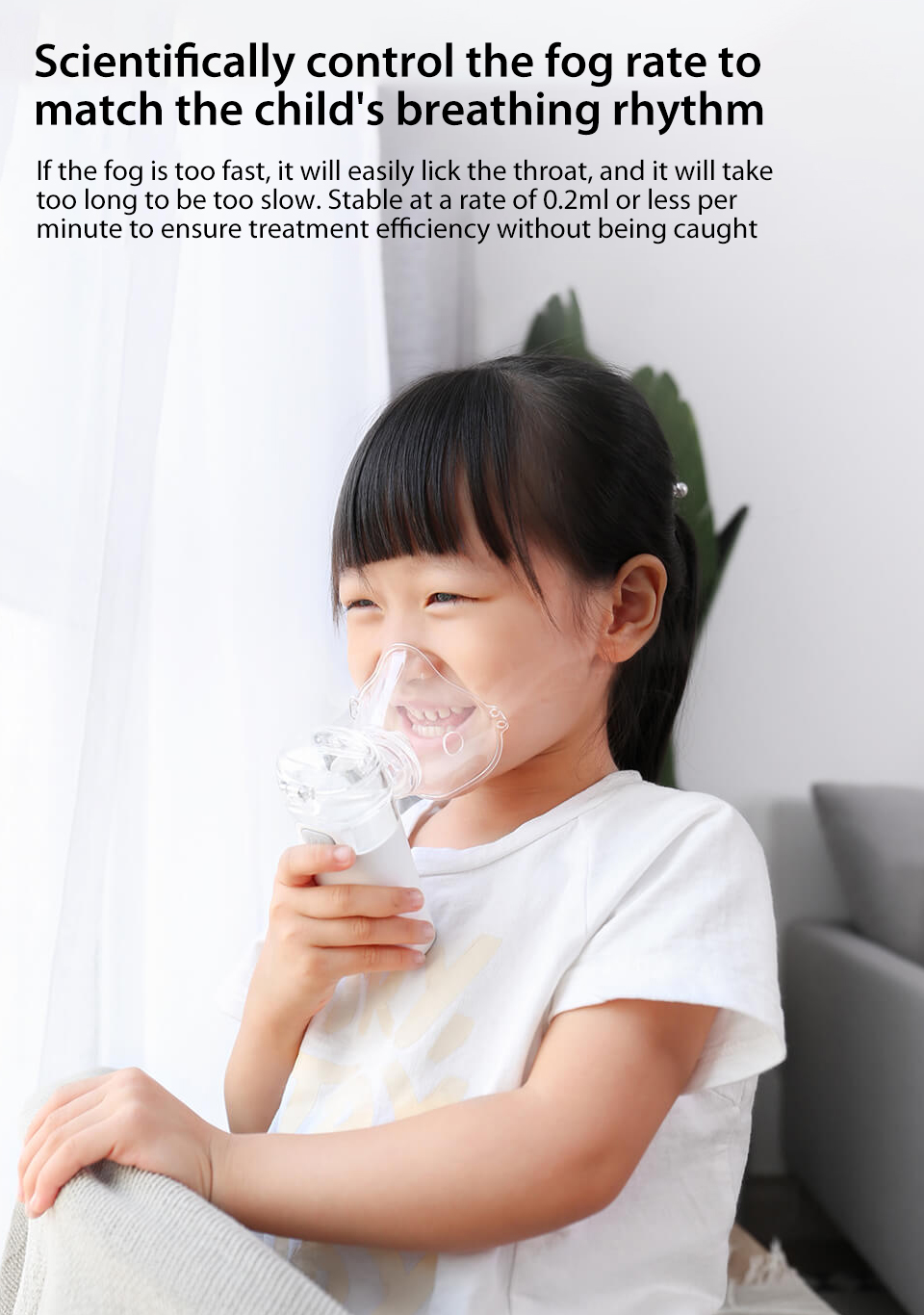 Xiaomi Andon Nebulizer Mini Portable Silent Atomizer USB Battery Handheld 0.2mlmin Rate Asthma Respirator Humidifier (9)