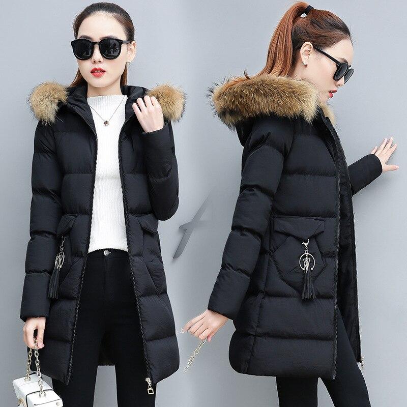 2019 Down cotton winter coat women plus size women coat womens tops and blouses hat womens clothing Korean fashion long coat