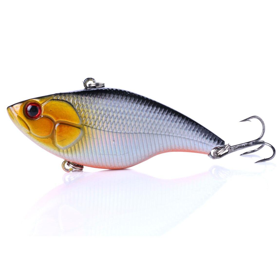 1pcs 7.5cm 18g Hard Fishing Lure VIB Rattlin Hook Fishing Sinking Vib Rattlin Lures