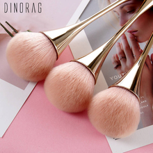 Dinorag 1 Pcs Big Make-up Brushes Champagne Gold Precision G