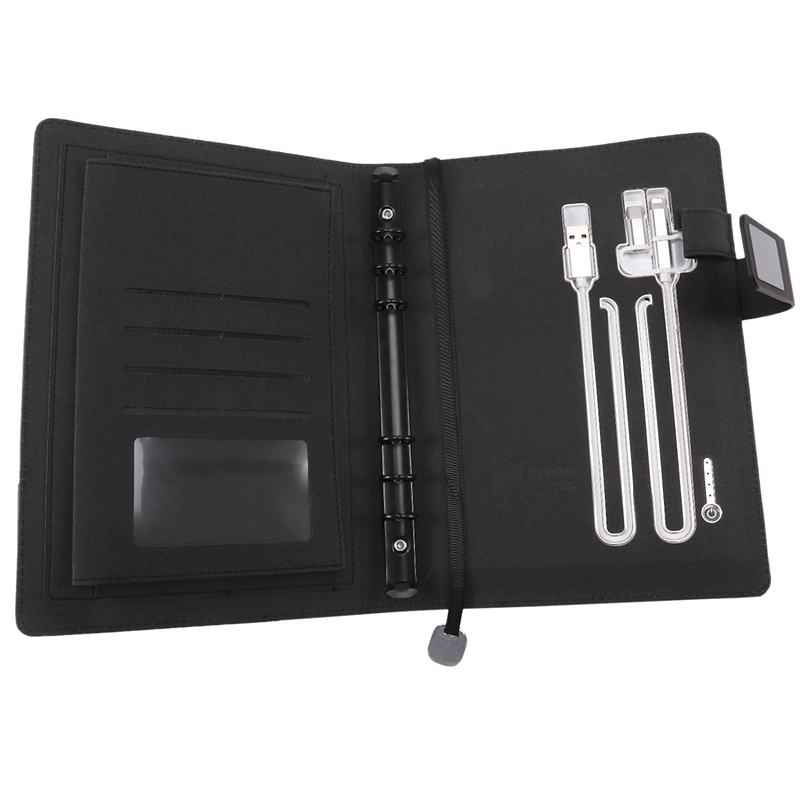 A5 Notebook Business Travel Planner Multi-Function Power Notebook Loose-Leaf Power Supply Office Notebook