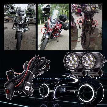 2 Pieces LED Headlamp + 1 Piece Rocker Switch + Wiring Harness 5w LED Lamp Beads For Long Life