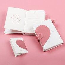 все цены на Soft Cover Bullet Pink Girl Heart Pen Notepad Couple Love Heart Notebook Journal Gift Box Book Set Journal Bujo A6 онлайн