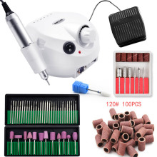Pro 35000RPM Nail Master Electric Nail Drill Machine Manicure Machine Nail Drill Bit Set Case Anti scald Handle Nail Tools